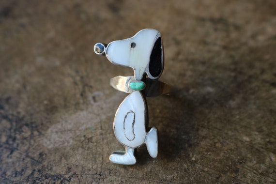 Snoopy Ring / Zuni Toons Jewelry / Southwestern In