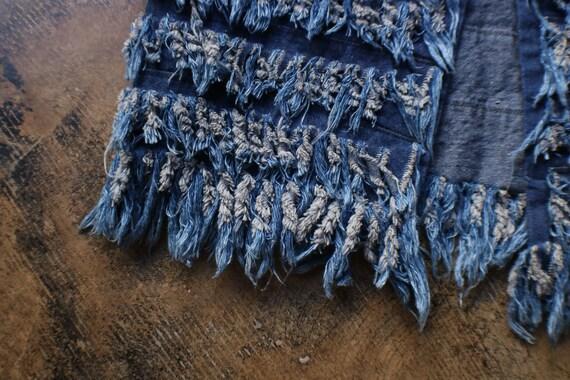 Fringed Denim Vest / Vintage Frayed Denim Vest / … - image 2
