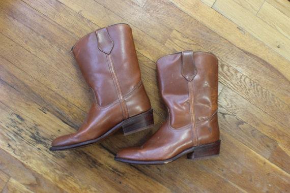 FRYE cowboy BOOT / Honey Brown Western