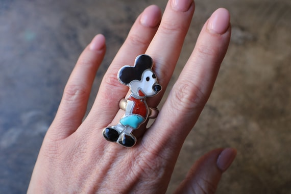 Mickey Mouse Ring / Zuni Toons Jewelry / Southwest