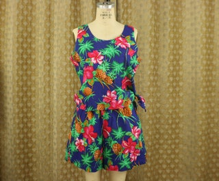 Equatorial Two Piece  Shorts and Tank Top Summer Set  Vintage Colorful Patterned Clothing