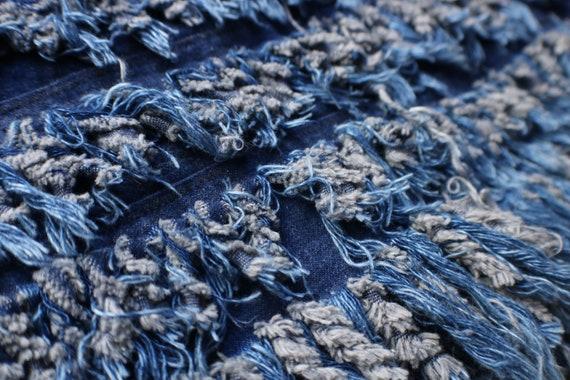 Fringed Denim Vest / Vintage Frayed Denim Vest / … - image 6