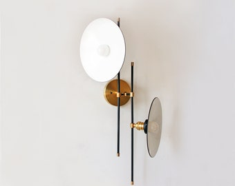 Mid Century Modern Wall Fixture Double Lamp Restaurant Wall Lighting Kitchen Wall Sconce Dining Room Lighting Living Room Lighting Sconce
