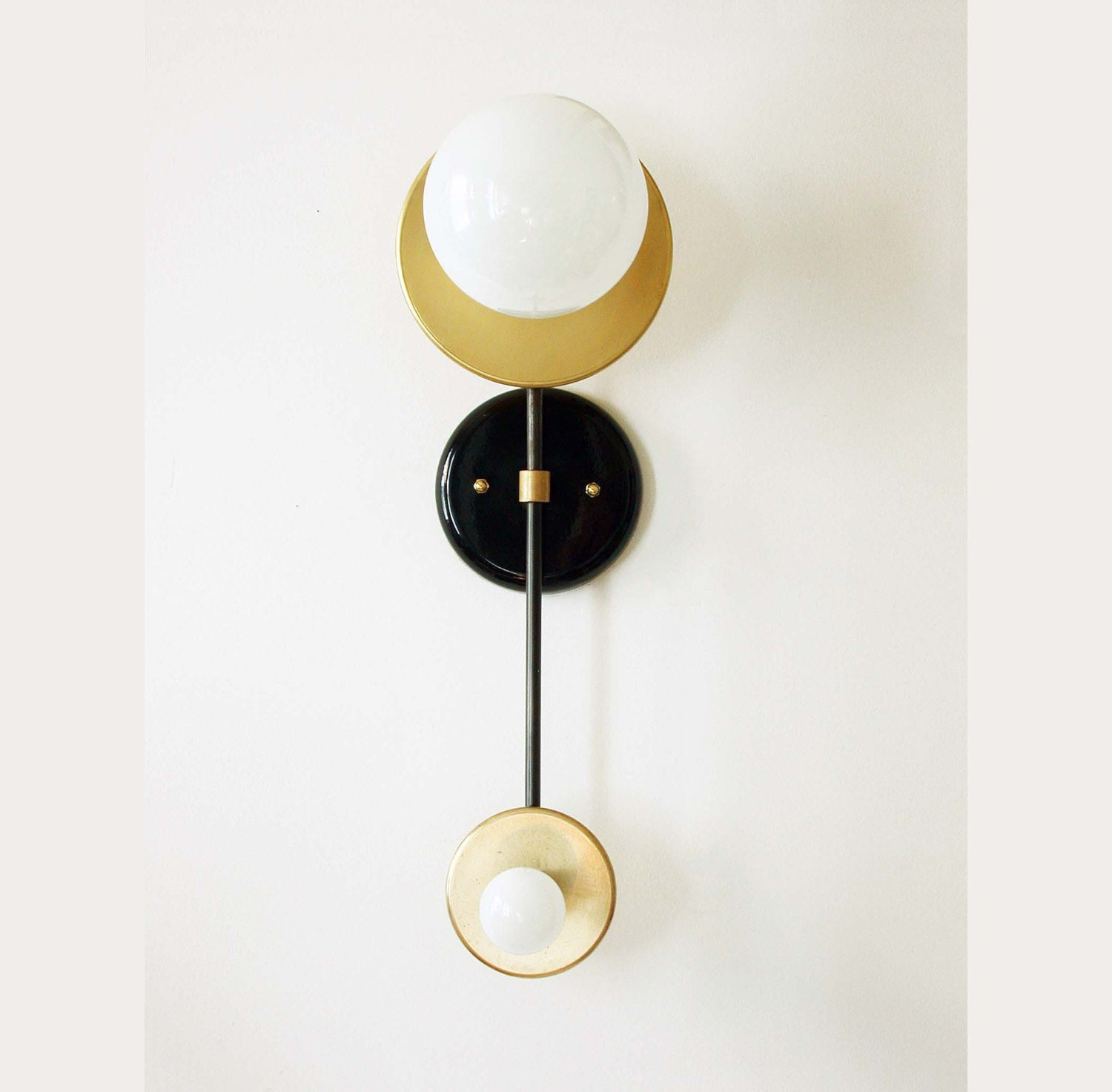 Double Wall Brass Sconce Lamp Wall Light Fixture Bedroom