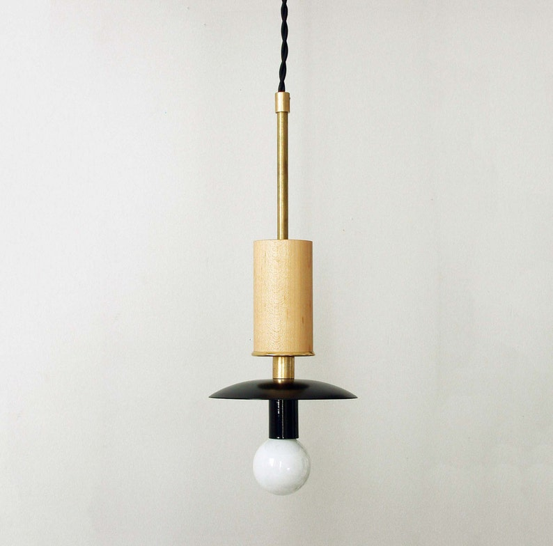 Gold Black Pendant Candelabra Lamp Modern Ceiling Lighting Mid Etsy