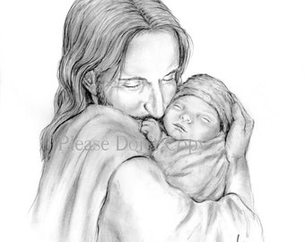 Christ Holding Baby Etsy