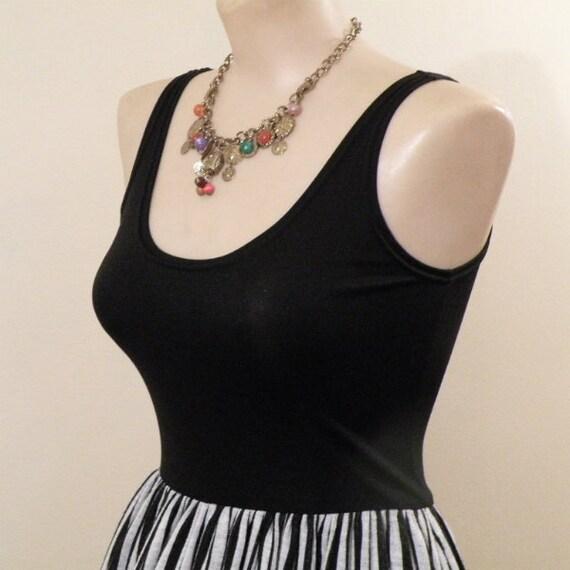 Rudi Gernreich Black and White Stripes Maxi Dress… - image 3