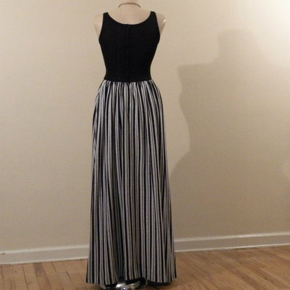 Rudi Gernreich Black and White Stripes Maxi Dress… - image 2