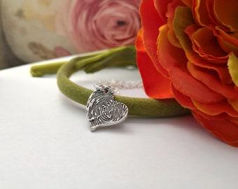 Keepsake Love Pendant Your Actuall Fingerprint Best Mom Bridesmaid Gift