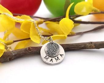 Fingerprint 2 Slices Pendant 999 Silver Forever Love Keepsake Jewelry