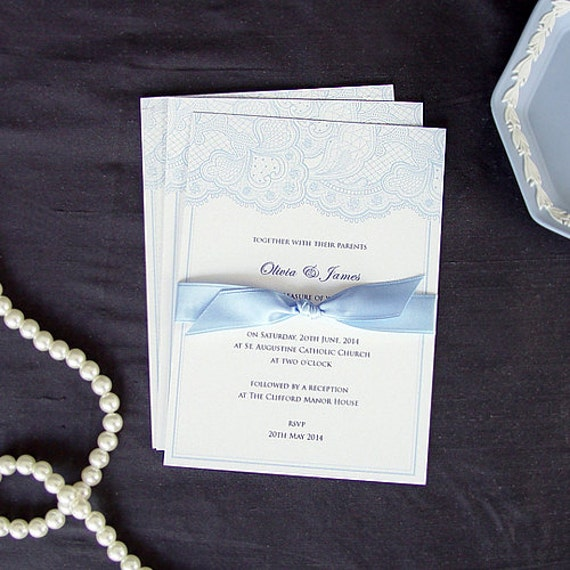 Items Similar To Letterpress Wedding Invitations Vintage
