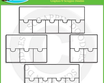 2 piece puzzle template etsy