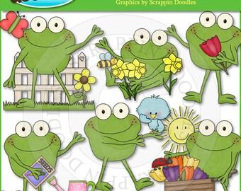 Froggy Fun Spring Days Clip Art
