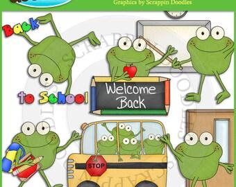 Froggy Fun Back To School Clip Art