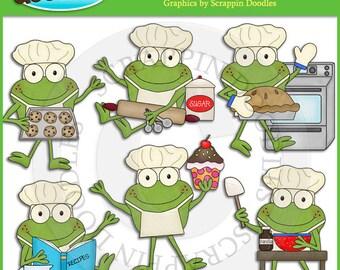 Froggy Fun Chefs Clip Art