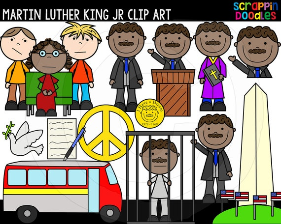 Martin Luther King Jr Clip Art Commercial Use Martin Luther Etsy