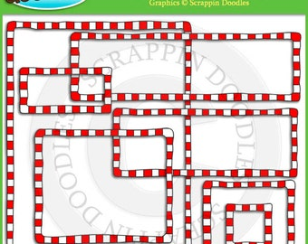 Red Checkered Borders & Frames