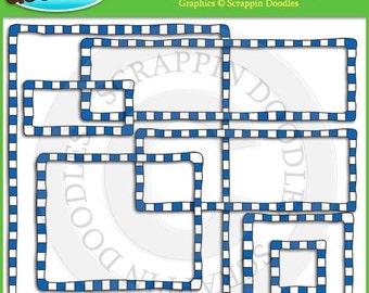 Blue Checkered Borders & Frames