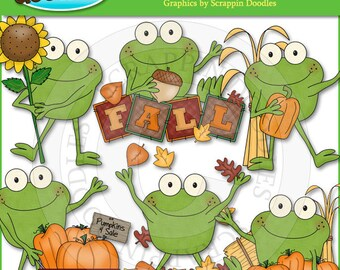Froggy Fun Fall Days Clip Art