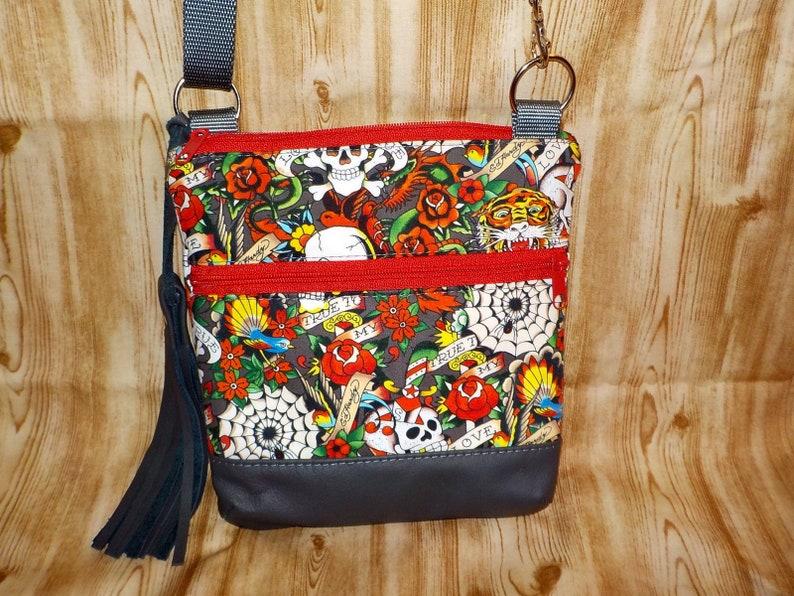 85d70a429d Cross Body KODA Bag Ed Hardy Tattoo Cotton Fabric
