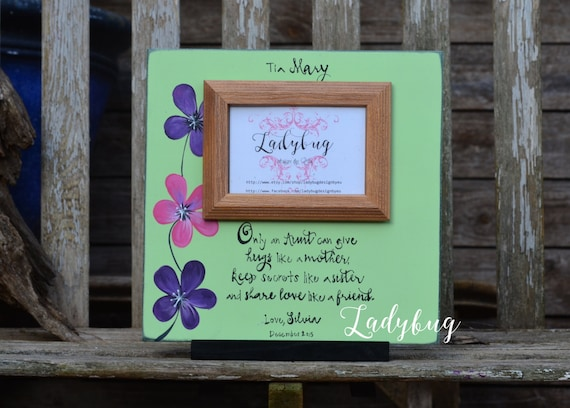 Only An Aunt Can Give Hugs Like A Mother Picture Frame Etsy