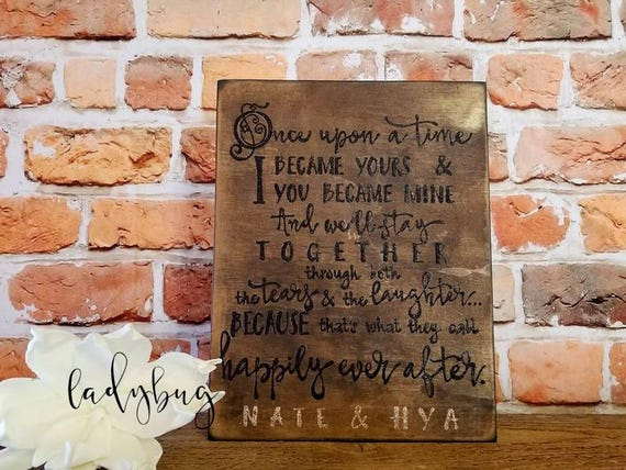 Once Upon A Time I Became Yours Wedding Sign Wedding Etsy