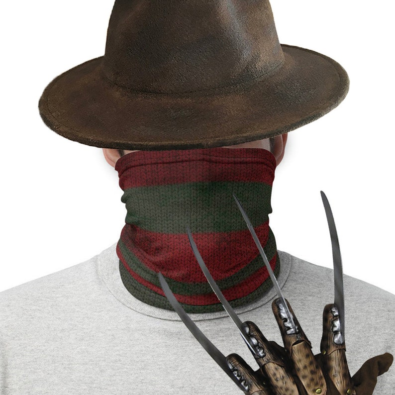 Freddy Krueger Inspired Cosplay Halloween Mask Dust Shield image 0