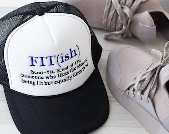 4bb4c01985a96 Fit(ish) trucker hat, fitness hat, trucker hat for women, fitish, fitness,  women fitness,