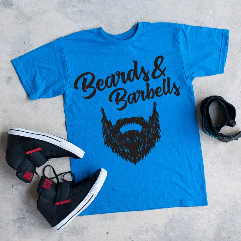 f695a80e63372f Beards and Barbells mens t-shirt fitness t-shirt gym life | Etsy