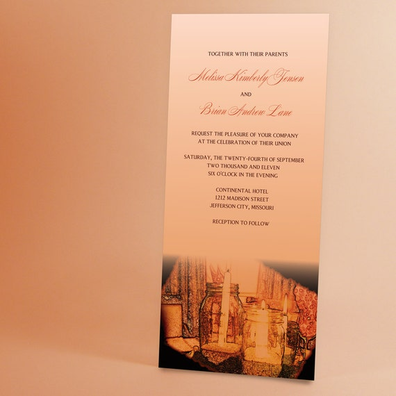 Candlelight Wedding Invitations