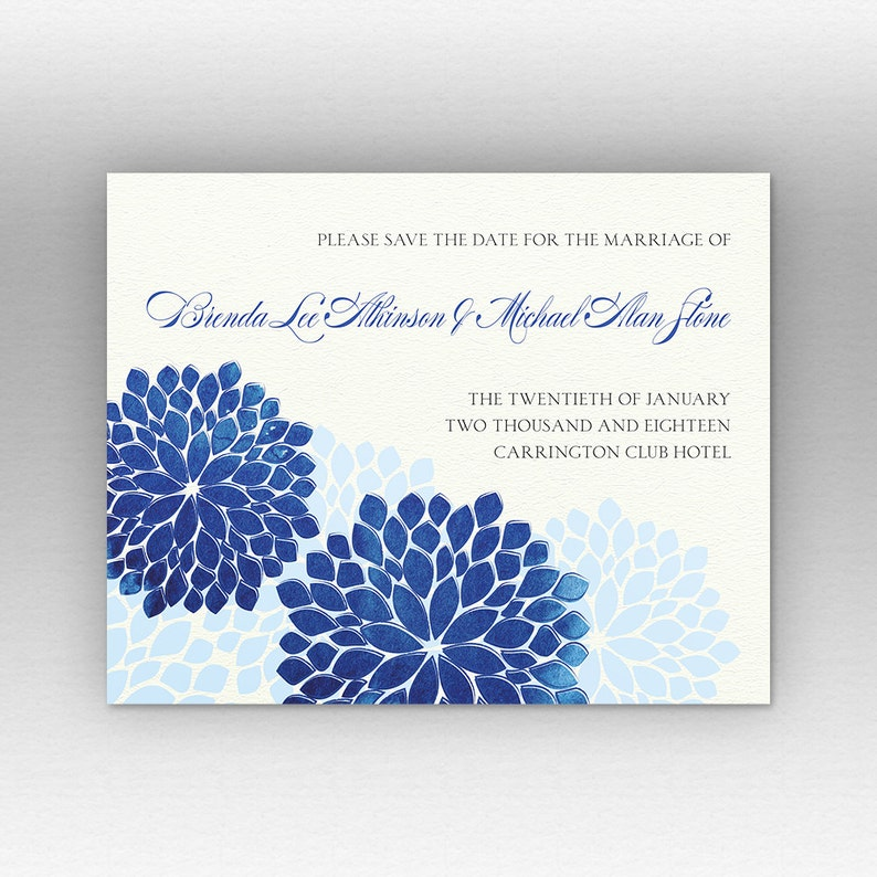 Watercolor floral garden custom Save the Date wedding cards flower blossom available postcard announcement matching Wedding Invitations