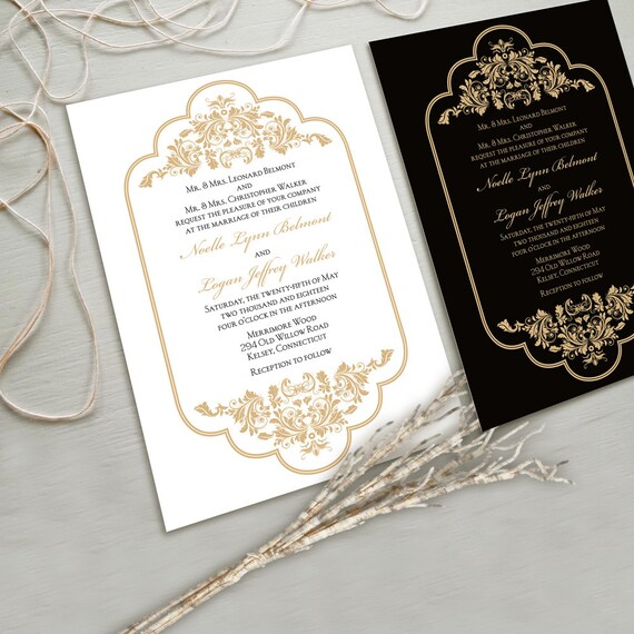 Glamorous Wedding Invitations: Timeless And Elegant Wedding Invitation Suite White And