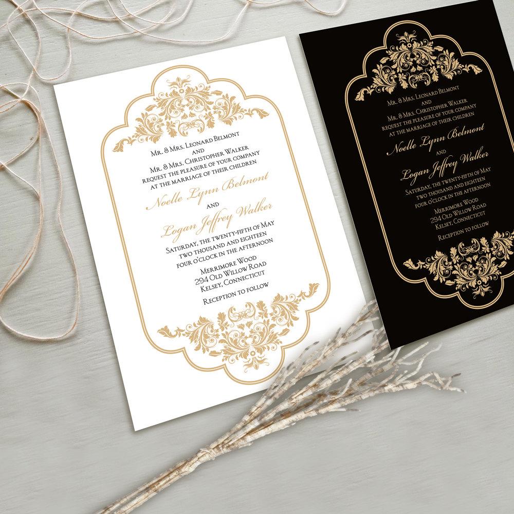 Elegant Wedding Invitations: Timeless And Elegant Wedding Invitation Suite White And