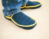 Men's House Slippers Crochet Pattern in 5 sizes No. 5