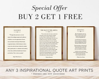 BUY 2 Get 1 FREE Print, 3 for 2, Special Offer for Inspirational Quote Prints, Inspirational Quote Posters, Home Decor, UNFRAMED