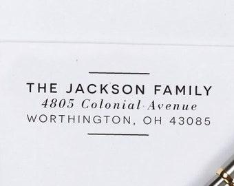 Custom Return Address Stamp, Self Inking Stamp, Custom Address Stamp, Address Stamp, Housewarming Gift, Realtor Gift H129