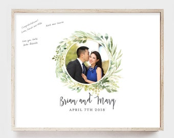 Rustic Wedding Guest Book Alternative Wedding Guest book Guest Book Canvas Guest book Wedding Alternative
