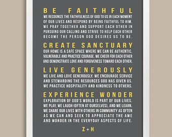 Family mission statement family sign christian family rules | etsy.