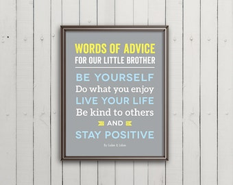 Brothers Canvas Brothers Wall Art Boy Room Decor Brother Etsy