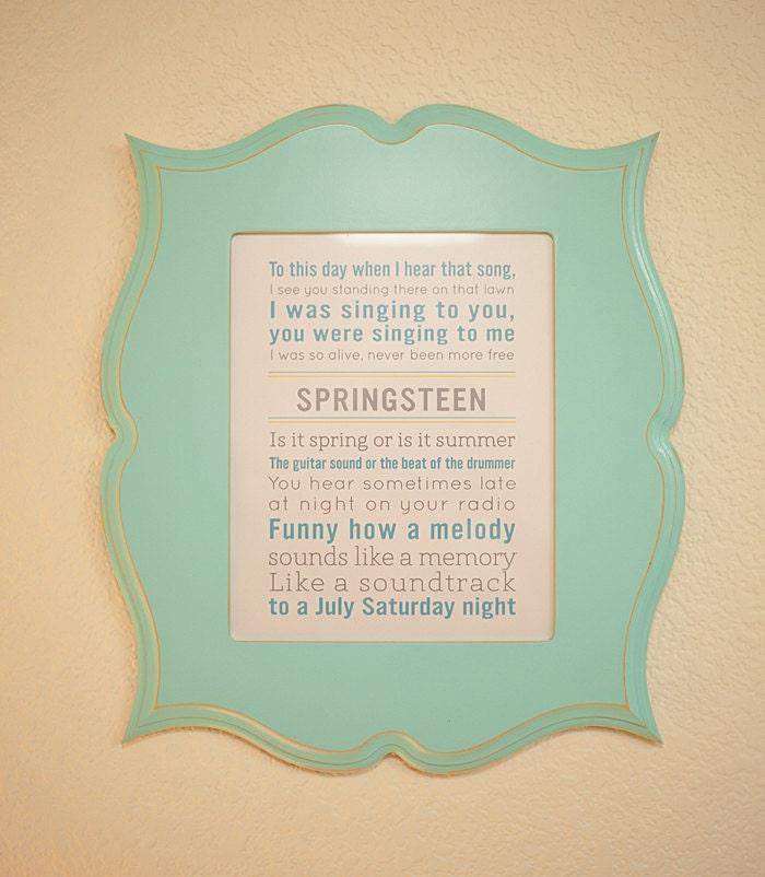 Custom Song Lyrics Print Personalized Quote Art Print Song