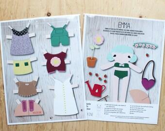 Emma printed paper doll