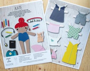 Kate printed paper doll