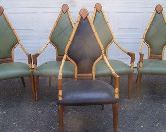 Pictures Of Art Deco Furniture To Art Deco Dining Chairsset Of Five Style Chairsleather Arm Chairsdining Chairsaccent Chairsbamboo Chairsvintage Chairsproject Art Furniture Etsy