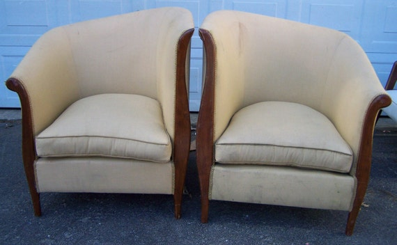 Chairspair art deco bergerescool modern interior chairschic etsy