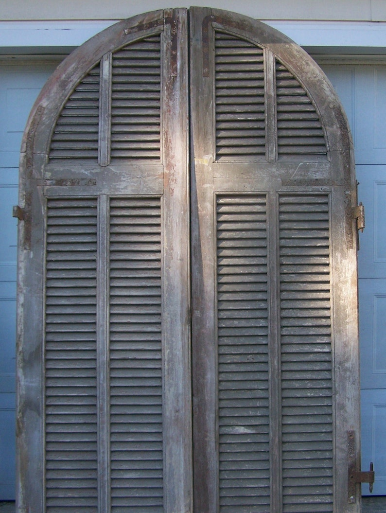 Arched wood shutter antique doors