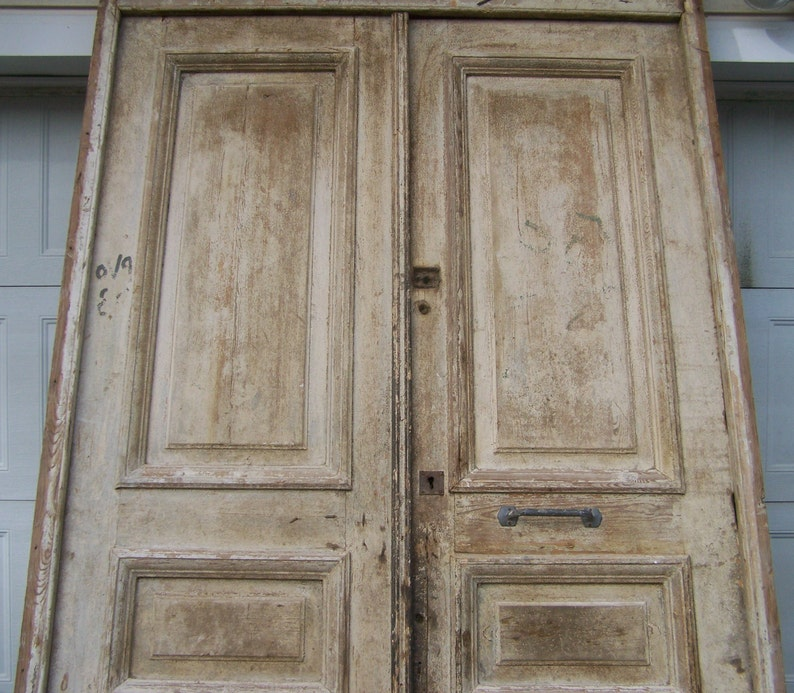 Antique rustic Mediterranean wood doors