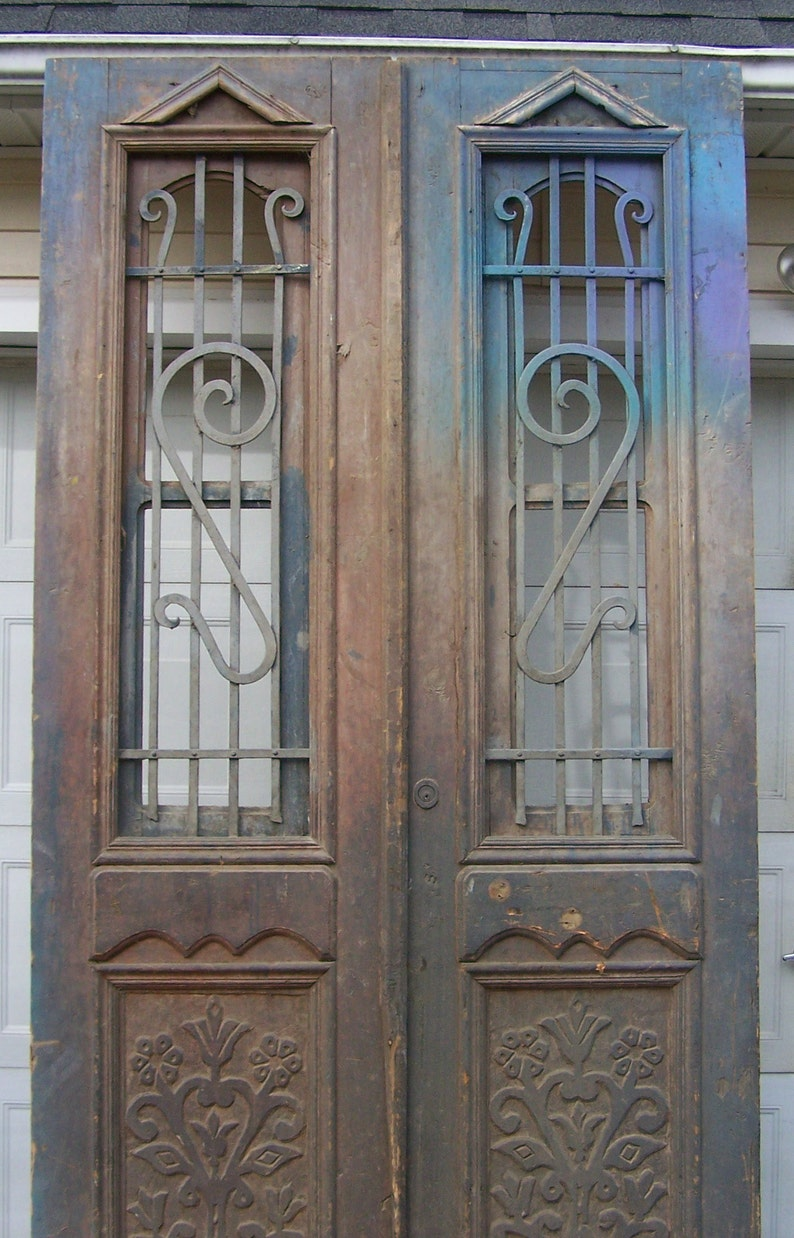 Tall rustic antique wood doors