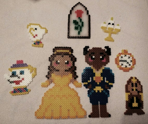 Beauty And The Beast Ornament Set Etsy