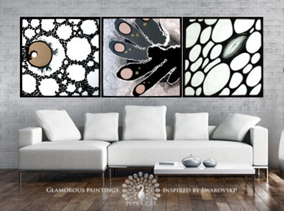 Modern abstract artwork with Swarovski®. Modern art. Modern painting. Modern fine art. Modern abstract art. Modern decor. Modern house art.