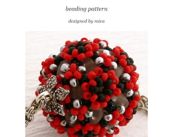 Albireo Beaded Bead pattern/tutorial - PDF file for personal use only